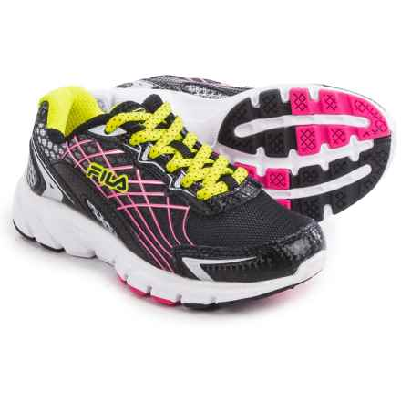 Fila Core Callibration 2 Running Shoes (For Little and Big Kids) in Black/Safety Yellow/Knockout Pink - Closeouts