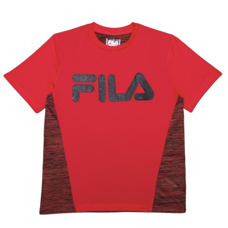 Fila Core Space-Dye T-Shirt - Short Sleeve (For Big Boys) in Red