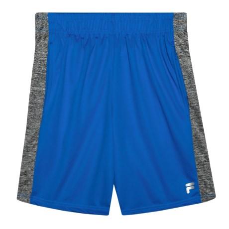 Fila Core Vibrant Interlock Shorts (For Big Boys) in Prince Blue