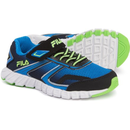 4cd534e1a787e Fila Crater 19 Running Shoes (For Boys) in Black/Electric Blue/Green