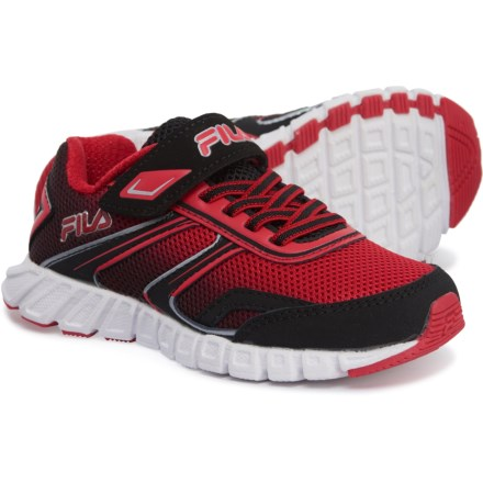 9a53e04985da Fila Crater 19 Running Shoes (For Boys) in Black Fila Red Metallic