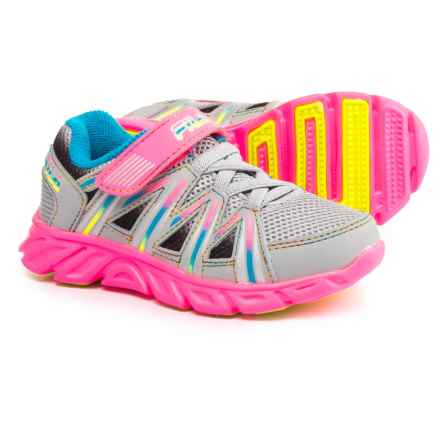 Fila Crater 7 Strap Running Shoes (For Toddler Girls) in Highrise/Knockout Pink/Atomic Blue - Closeouts