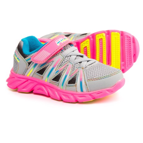 Fila Crater 7 Strap Running Shoes (For Toddler Girls) in Highrise/Knockout Pink/Atomic Blue