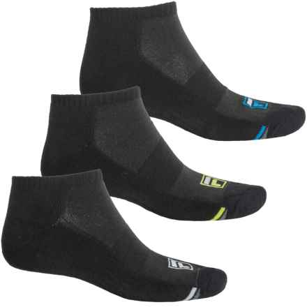 Fila Dual Angles Socks - 3-Pack, Ankle (For Men) in Black - Overstock