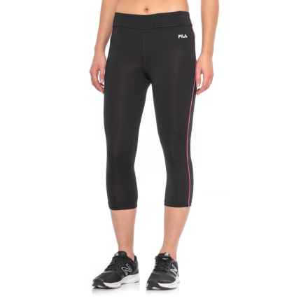 Fila Energy Capris (For Women) in Blk Pglo - Closeouts