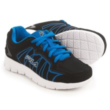 Fila Escalight Running Shoes (For Little and Big Kids) in Black/Prince Blue/White - Closeouts