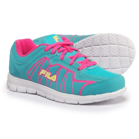 Fila Escalight Running Shoes (For Little and Big Kids) in Royal Blue/Pink Glo/Safety Yellow