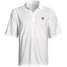 Fila Essenza Color-Blocked Tennis Polo Shirt - Short Sleeve (For Men) in White/Turkish Sea - Closeouts