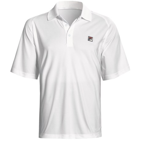 Fila Essenza Color-Blocked Tennis Polo Shirt - Short Sleeve (For Men) in White/Turkish Sea