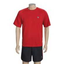 Fila Essenza Tennis Shirt - Colorblocked, Short Sleeve (For Men) in Chinese Red/White - Closeouts