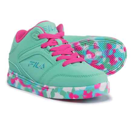 Fila Falina Mashup Sneakers (For Girls) in Turqouise/Fuschia/Pink - Closeouts
