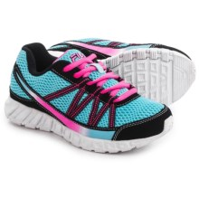 Fila Flicker Running Shoes (For Little and Big Girls) in Blue Fish/Black/Knockout Pink - Overstock