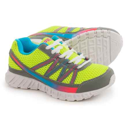 Fila Flicker Running Shoes (For Little and Big Girls) in Saftey Yellow/Mango/Dark Pink - Overstock
