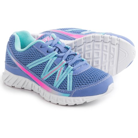 Fila Flicker Running Shoes (For Little and Big Girls) in Wedgewood/Aruba Blue/Knockout Pink