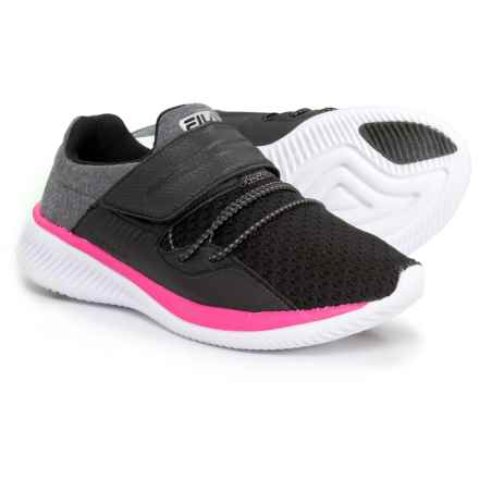 Fila Fondato 2 Running Shoes (For Girls) in Black/Pink Glo/White - Closeouts