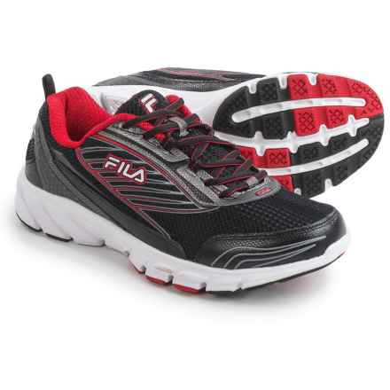 Fila Forward 2 Running Shoes (For Men) in Black/Dark Silver/Red - Closeouts