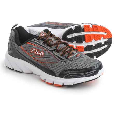 Fila Forward 2 Running Shoes (For Men) in Dark Silver/Black/Red Orange - Closeouts