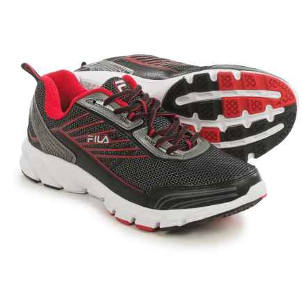 Fila Forward 3 Running Shoes (For Men) in Black/Dark Silver/Red - Closeouts