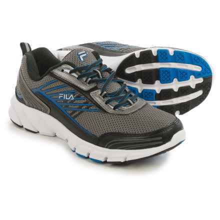 Fila Forward 3 Running Shoes (For Men) in Dark Silver/Black/Blue - Closeouts