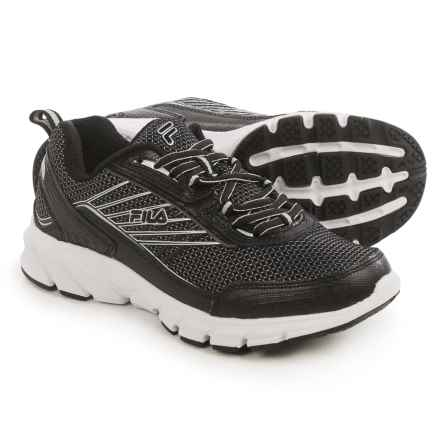 Fila Forward 3 Running Shoes (For Women) in Black/Black/Metallic Silver - Closeouts