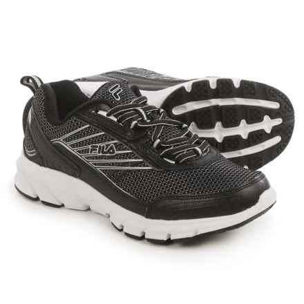 Fila Forward 3 Running Shoes (For Women) in Black/Black/Metallic Silver - Closeouts