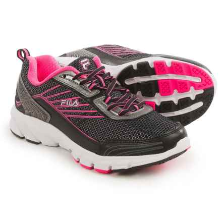 Fila Forward 3 Running Shoes (For Women) in Black/Dark Silver/Knockout Pink - Closeouts