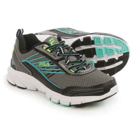 Fila Forward 3 Running Shoes (For Women) in Dark Silver/Black/Aruba Blue - Closeouts