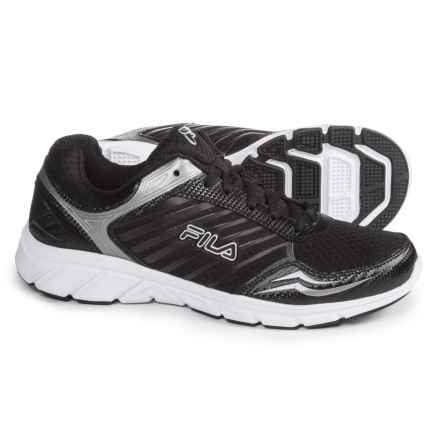 Fila Gamble Running Shoes (For Men) in Black/Black/Metalic Silver - Closeouts