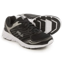 Fila Gamble Running Shoes (For Women) in Black/Black/Metallic Silver - Closeouts