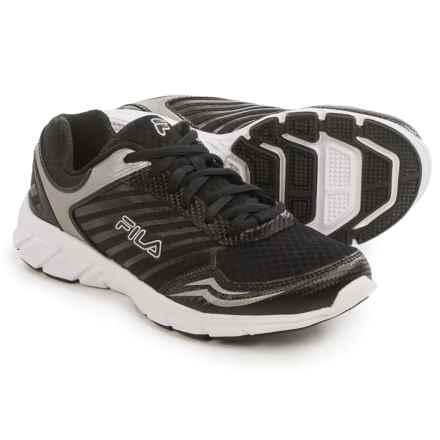 Fila Gamble Running Shoes (For Women) in Black/Black/Metallic Silver - Closeouts
