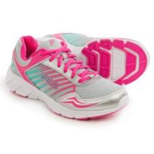 Fila Gamble Running Shoes (For Women) in Metalllic Silver/Pink Glow/Cockatoo - Closeouts