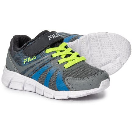 203c3c894502 Fila Gammatize Strap Running Shoes (For Boys) in Monument Electric  Blue Safety
