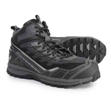 Fila Hail Storm 3 Mid CT Trail Running Shoes (For Men) in Castlerock/Black/Metallic Silver - Closeouts