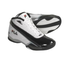 Fila Haptic Basketball Shoes (For Men) in White/Black/Chinese Red - Closeouts