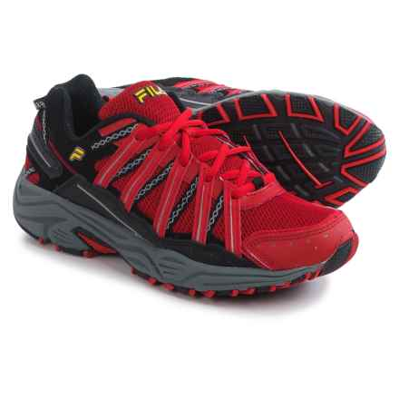 Fila Headway 4 Trail Running Shoes (For Men) in Fila Red/Black/Gold Fusion - Closeouts