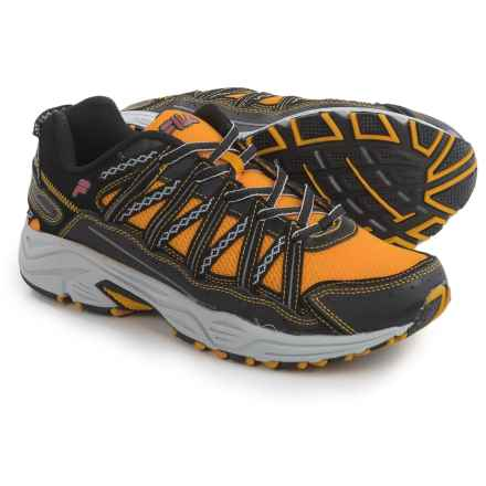 Fila Headway 4 Trail Running Shoes (For Men) in Gold Fusion/Black/Fila Red - Closeouts