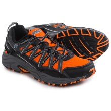 Fila Headway 4 Trail Running Shoes (For Men) in Shocking Orange/Pewter/Atomic Blue - Closeouts