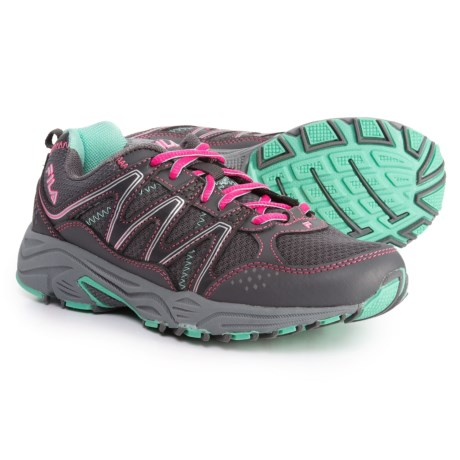 Fila Headway 5 Trail Running Shoes (For Girls) in Castlerock/Knockout Pink/Cockatoo