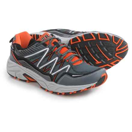 Fila Headway 6 Trail Running Shoes (For Men) in Castle Rock/Vibrant Orange/Black - Closeouts