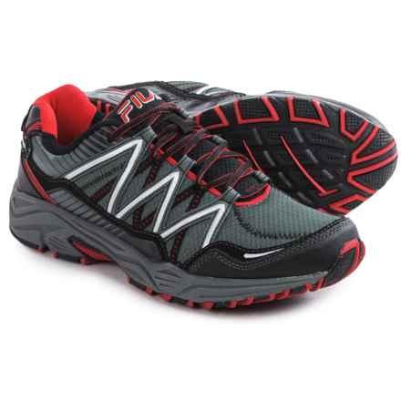 Fila Headway 6 Trail Running Shoes (For Men) in Castlerock/Black/Fila Red - Closeouts