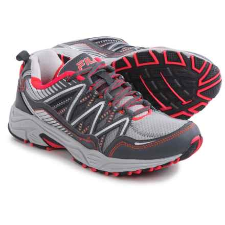 Fila Headway 6 Trail Running Shoes (For Women) in Silver/Dark Gray/Pink - Closeouts