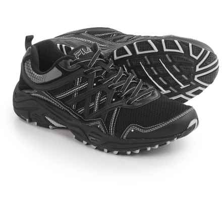 Fila Headway 7 Trail Running Shoes (For Men) in Black/Black/Metalic Silver - Closeouts