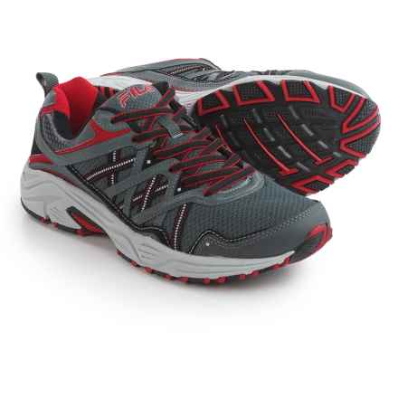 Fila Headway 7 Trail Running Shoes (For Men) in Castle Rock/Black/Fila Red - Closeouts