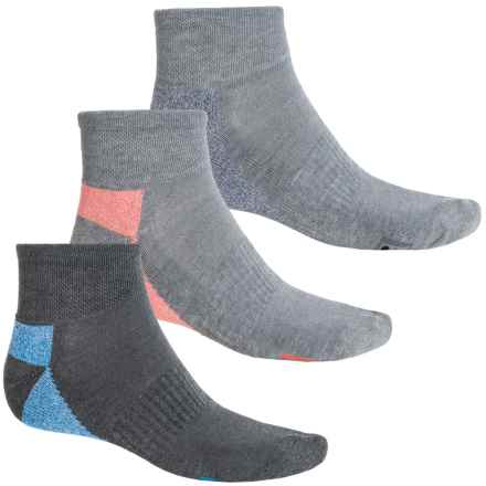 Fila Heathered-Sole Socks - 3-Pack, Quarter Crew (For Men) in Light Grey - Overstock