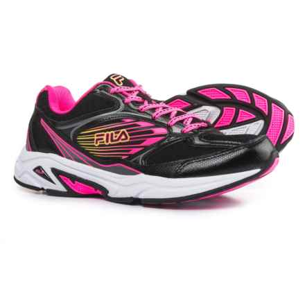 Fila Inspell 3 Running Shoes (For Women) in Black/Knockout Pink/Safety Yellow - Closeouts