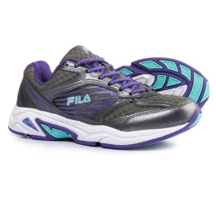 Fila Inspell 3 Running Shoes (For Women) in Dark Silver/Electric Purple/Aruba Blue - Closeouts