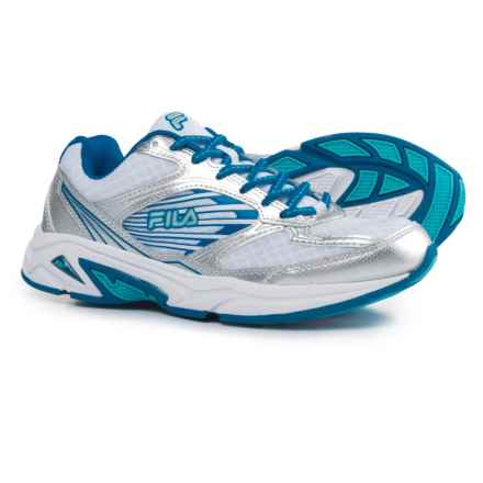 Fila Inspell 3 Running Shoes (For Women) in White/Electric Blue Lemonade/Blue Atoll - Closeouts