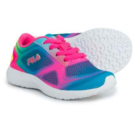 Fila Kameo 3 Running Shoes (For Girls) in Atomic Blue/Knockout Pink/Safety Yellow - Closeouts