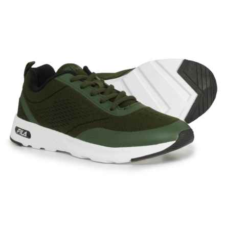 Fila Memory Chelsea Knit Running Shoes (For Women) in Chive/Chive/White - Closeouts