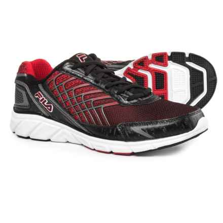 Fila Memory Core Callibration 3 Cross Training Shoes (For Men) in Black/Dark Silver/Fila Red - Closeouts